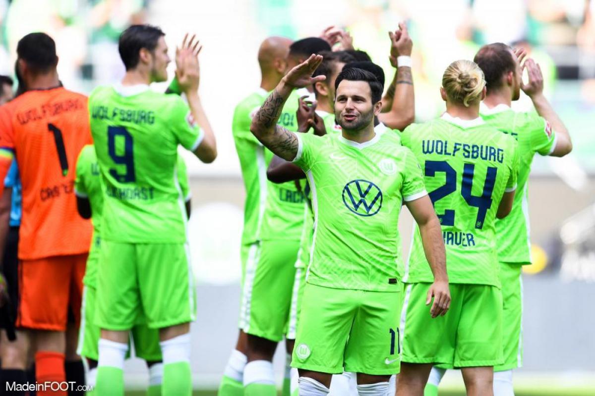 Joie des joueurs de Wolfsburg