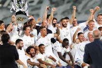 Victoire Real Madrid, joies (Benzema, Mariano, Lucas Vazquez, Eden Hazard, Ferland Mendy, Rodrygo, Marcelo