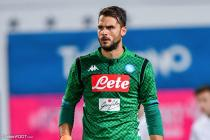 Orestis Karnezis during the friendly match between Napoli and Carpi in Trento on July 22, 2018.