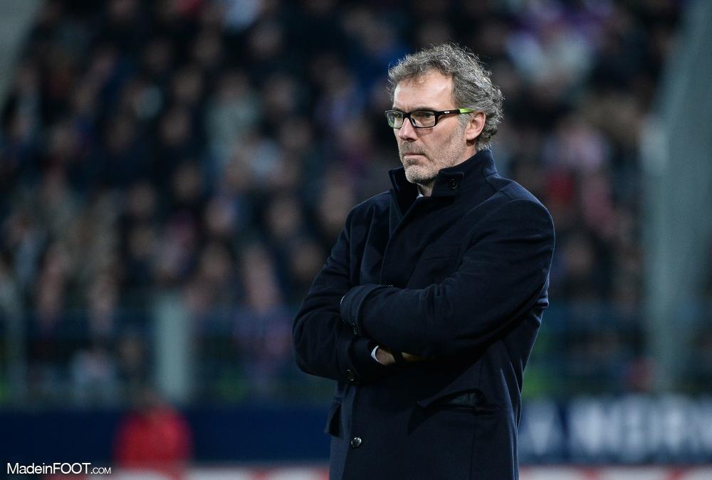 Laurent Blanc avec le PSG contre Caen