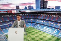 Presentation of Eden Hazard as new player of Real Madrid for the next 5 seasons at the Santiago Bernabeu stadium in Madrid, Spain, June 13, 2019 .