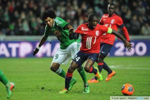BRANDAO / Rio MAVUBA - 17.01.2014 - Saint Etienne / Lille - 21eme journee de Ligue 1 -