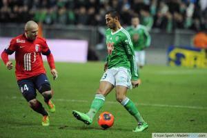 Faouzi GHOULAM - 17.01.2014 - Saint Etienne / Lille - 21eme journee de Ligue 1 -
