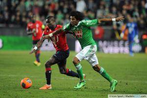 Idrissa GUEYE / BRANDAO - 17.01.2014 - Saint Etienne / Lille - 21eme journee de Ligue 1 -