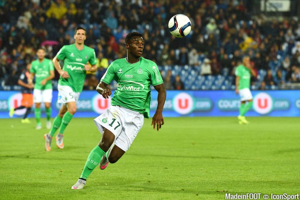 Jonathan Bamba (ASSE) fera partie du groupe des Verts qui se rendra à Lille, mercredi soir.