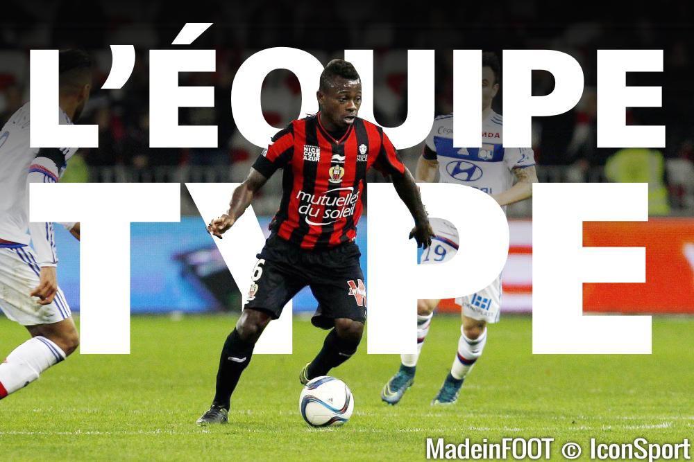 L'équipe-type de la 14ème journée de Ligue 1.