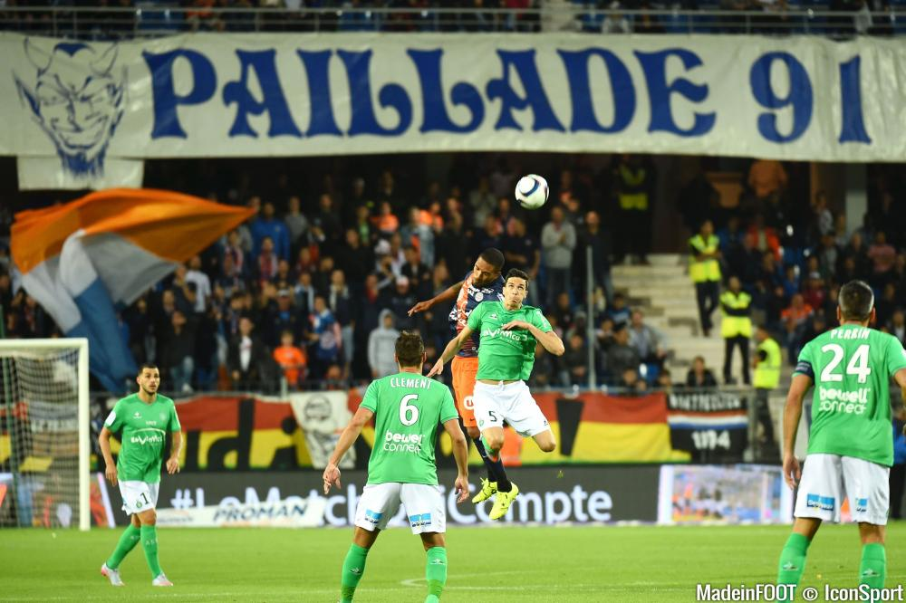 Joris Marveaux, ici au duel dans un match contre Saint-Etienne.