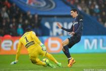 Angel Di Maria / Vincent Enyeama - 13.02.2016 - PSG / Lille - 26eme journee de Ligue 1