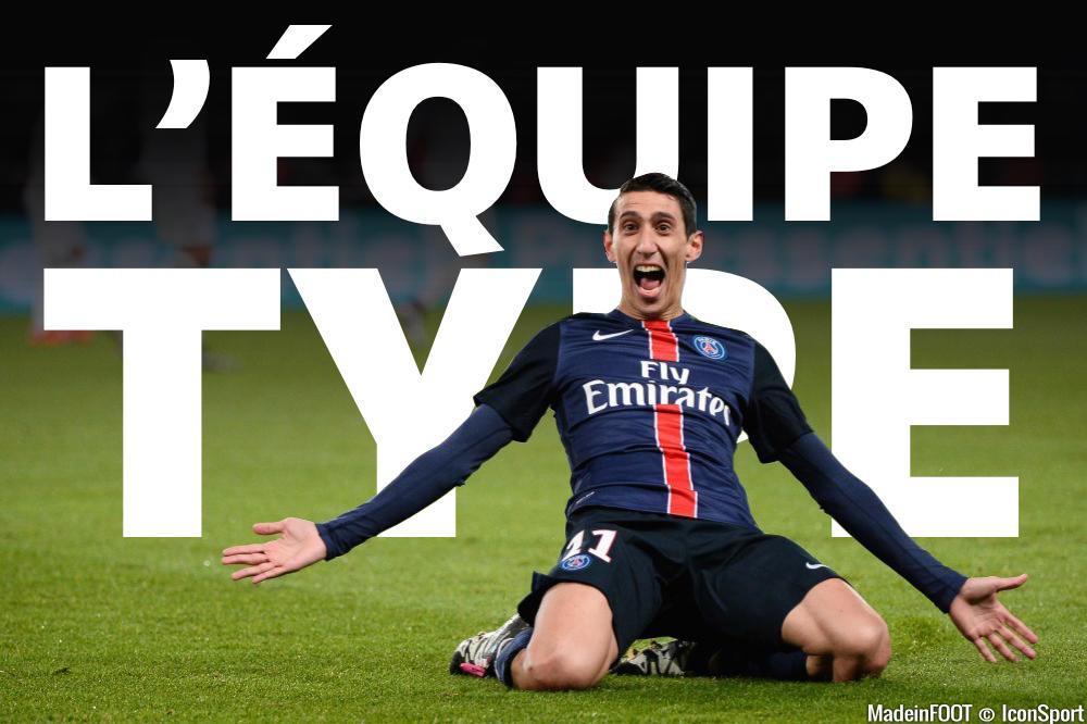 L'équipe-type de la 22e journée de Ligue 1.