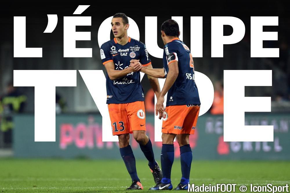 L'équipe-type de la 16e journée de Ligue 1.