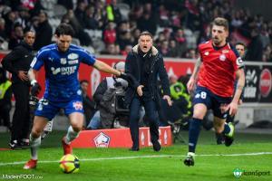 Le groupe du Lille OSC pour le match face au Stade de Reims.