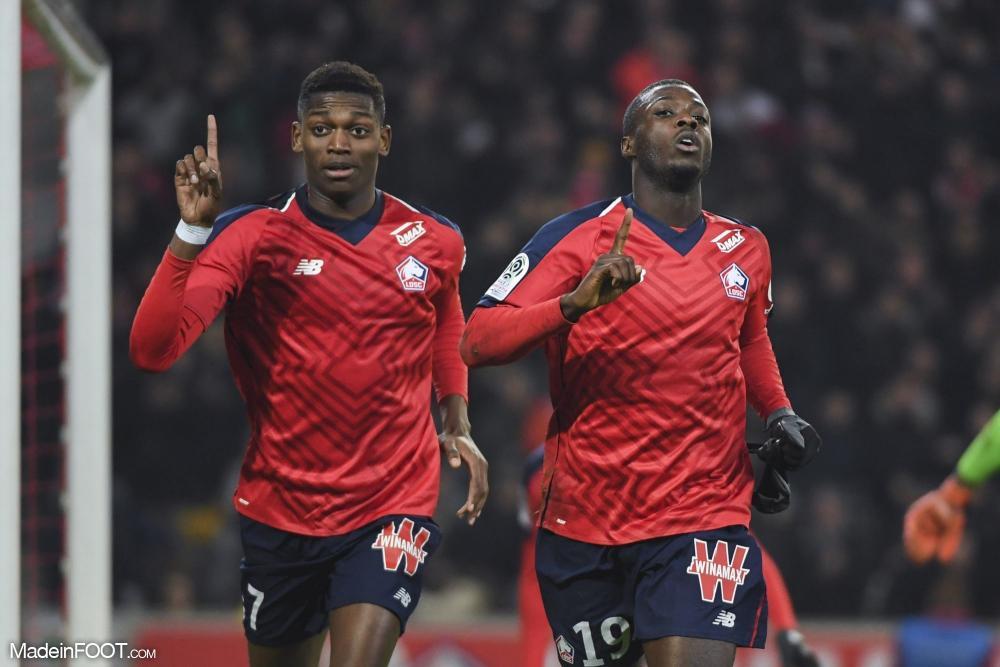 Lille s'est aisément imposé à domicile face à Nice.