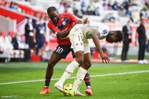 Jonathan Ikoné, le milieu de terrain offensif du Lille OSC.
