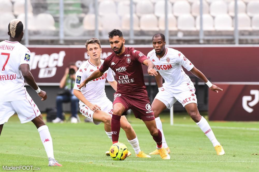 Farid Boulaya, milieu de terrain du FC Metz