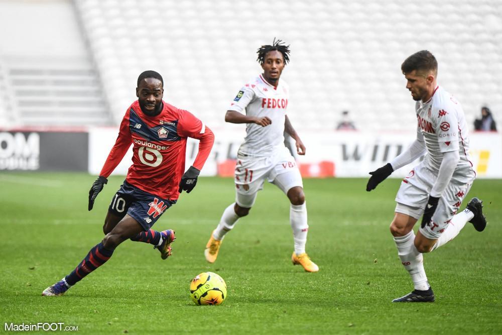 Jonathan Ikoné et le Lille OSC ont dominé l'AS Monaco (2-1), ce dimanche après-midi en Ligue 1.