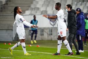 Renato Sanches, le milieu de terrain du Lille OSC, ici aux côtés de Boubakary Soumaré.