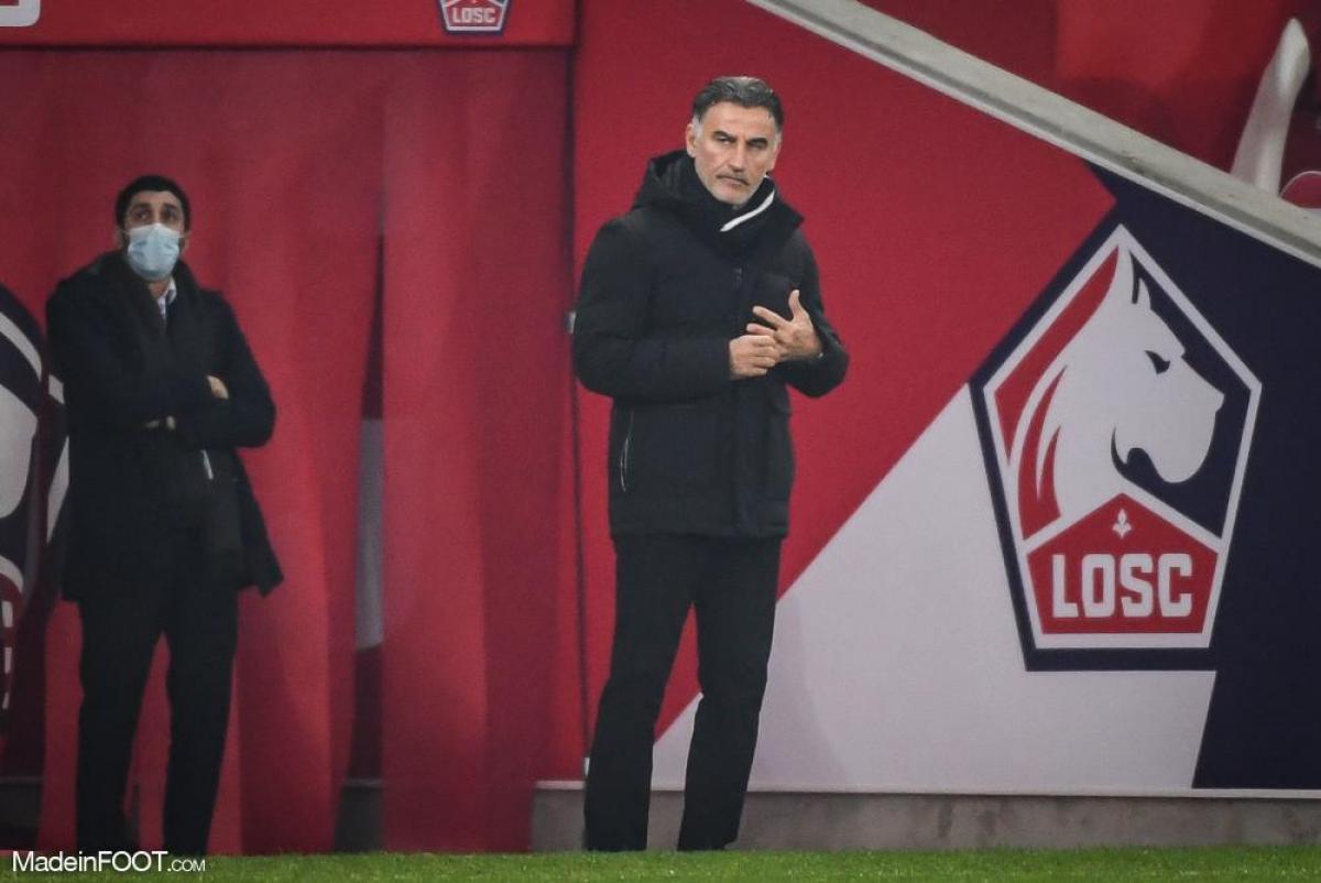 A la tête du LOSC, Christophe Galtier est actuellement deuxième de Ligue 1, à égalité de points avec le PSG leader