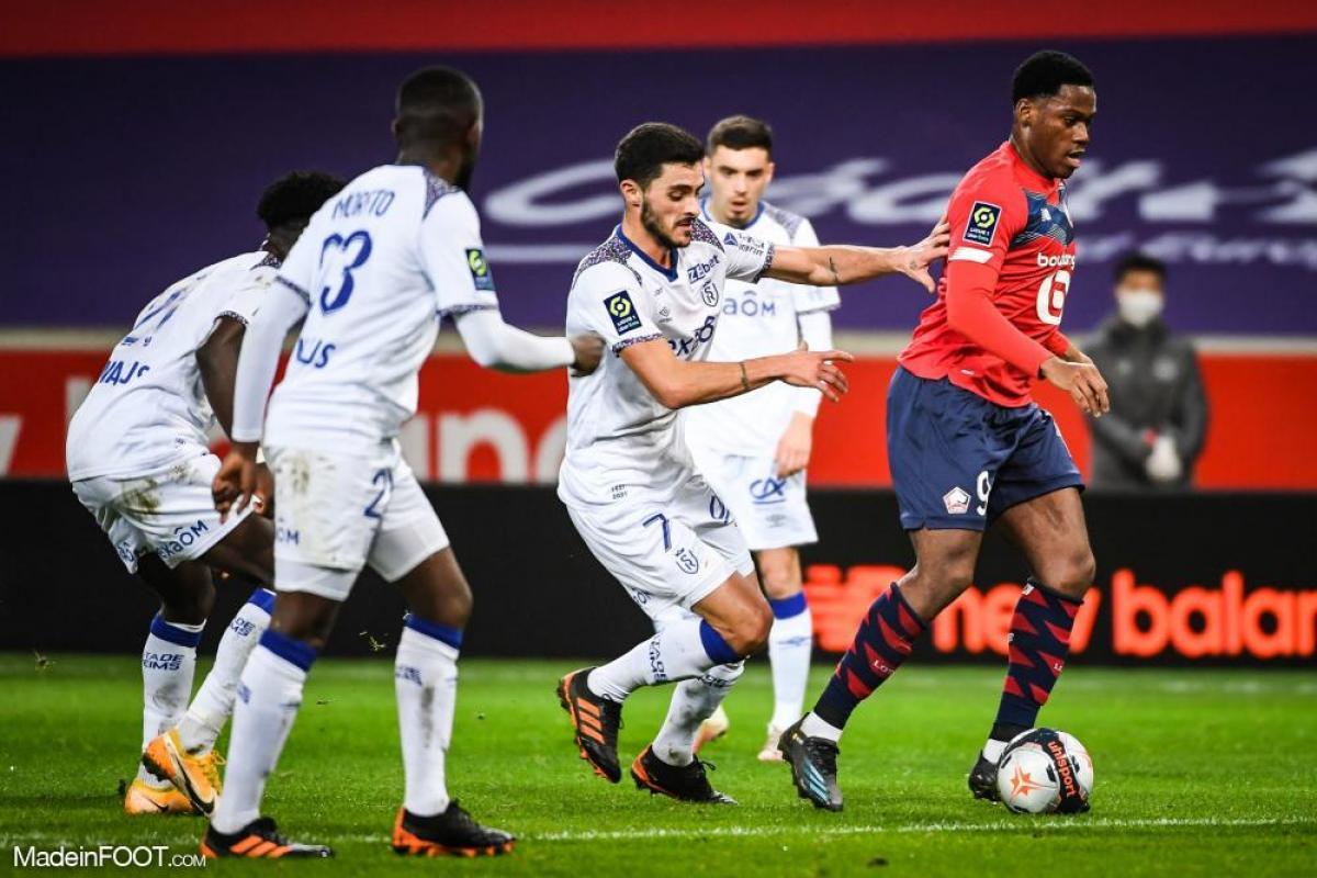 Le Lille OSC s'est imposé sur sa pelouse face au Stade de Reims (2-1), ce dimanche après-midi en Ligue 1.