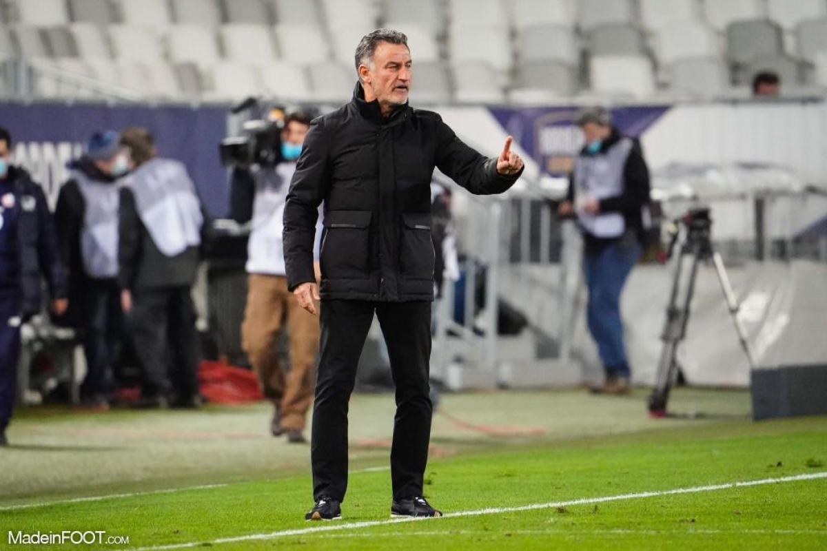 Christophe Galtier est déçu du match contre Montpellier