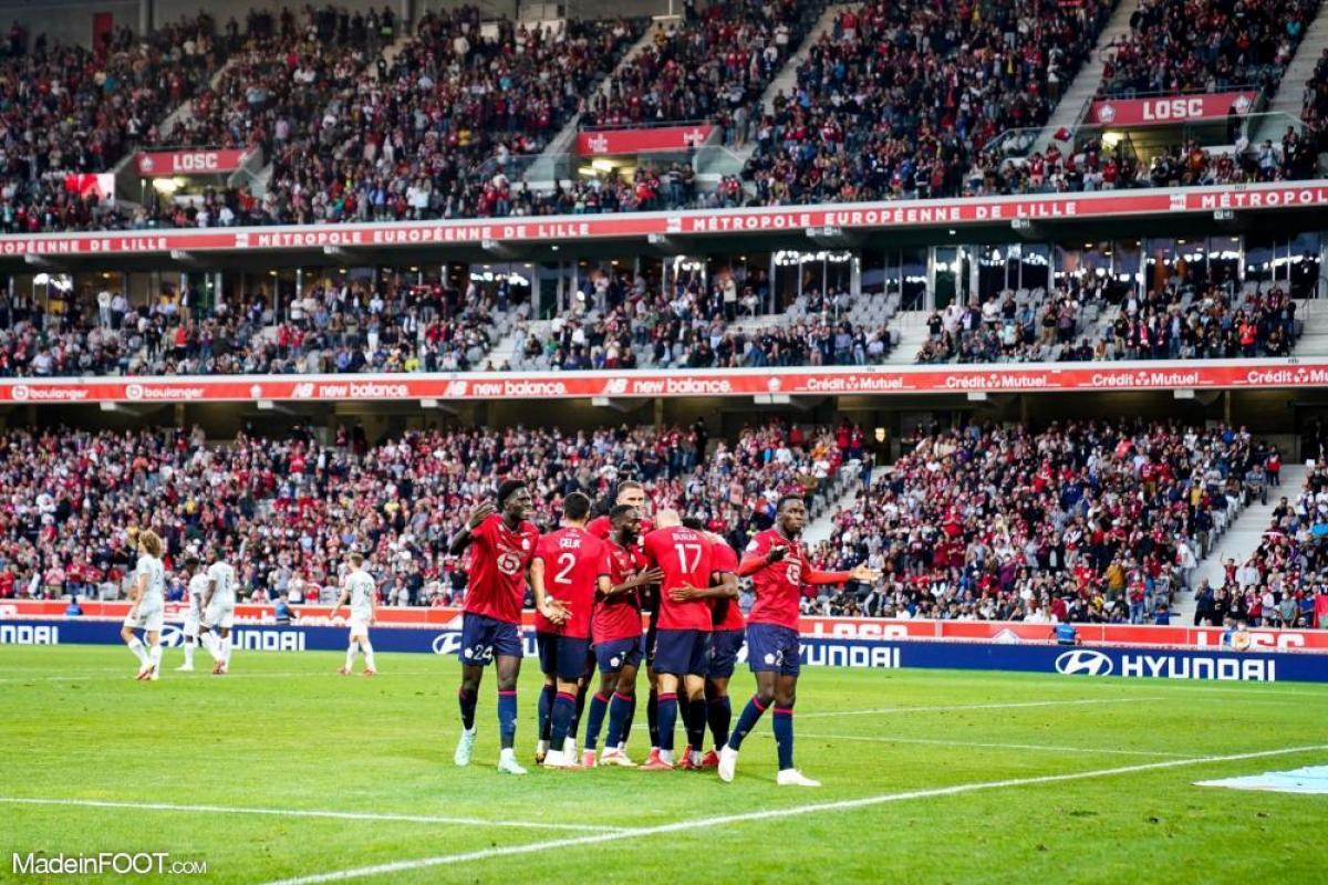 L'album photo du match entre le Lille OSC et le Stade de Reims.
