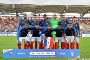 Les compos officielles du match entre la France U21 et la Belgique U21.