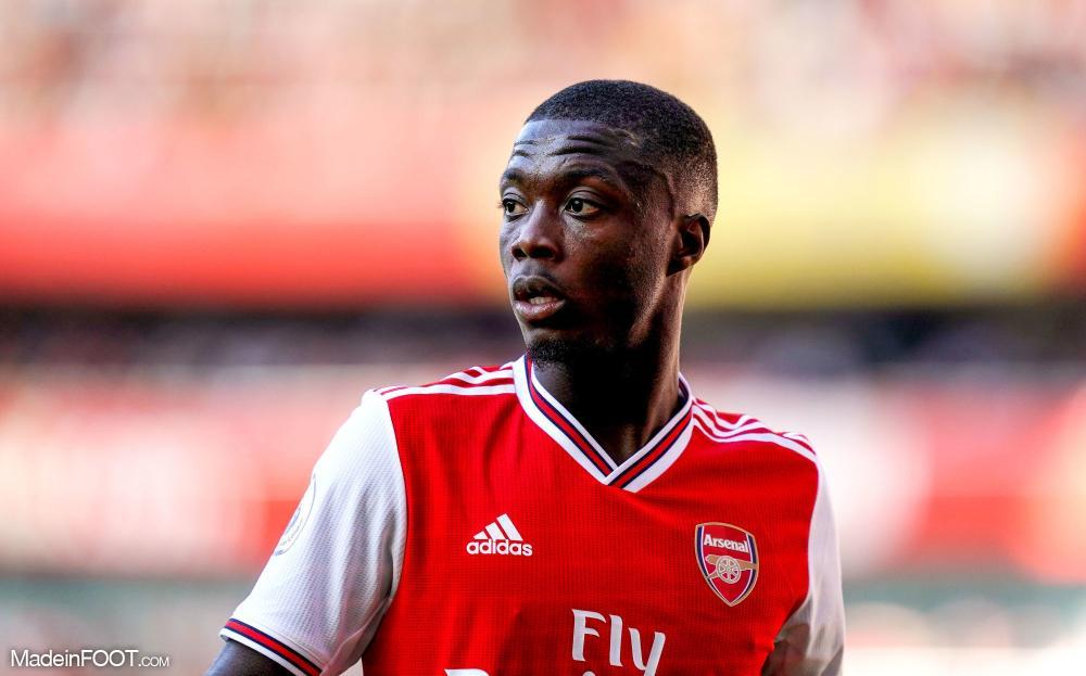 Nicolas Pépé, ici sous ses nouvelles couleurs d'Arsenal.